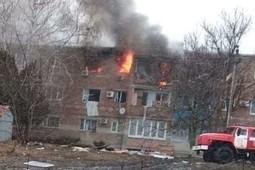 Появилось видео с места взрыва в жилом доме в Ростовской области