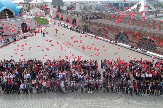 В Кремле прошел песенный флешмоб ко Дню Победы