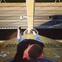 Руфер забрался на вершину моста «Миллениум» в Казани