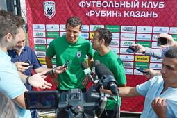 Сегодня «Рубин» провел открытую тренировку на своей базе в Соцгороде