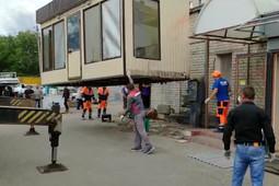 Приставы снесли незаконные ларьки на проспекте Ямашева в Казани