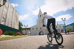 Фристайлер прокатился прямо по Спасской башне Казанского кремля