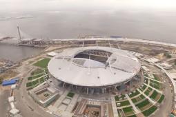 Пролетая над самым дорогим стадионом России