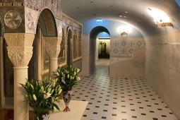 Митрополит Феофан освятил пещерный храм воссоздаваемого собора Казанской иконы Божией Матери