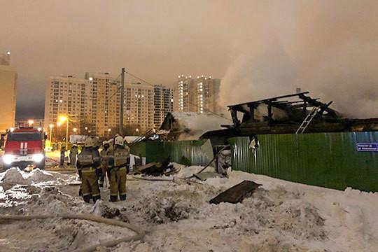 Пожар в частном доме на улице Кемеровской