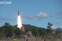 Минобороны РФ опубликовало видео испытаний ракетного комплекса «Искандер»