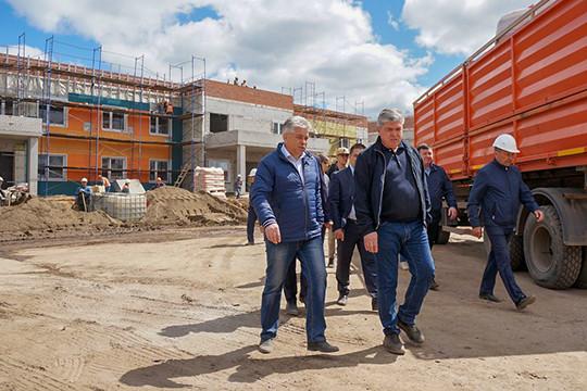 Объезд Наиля Магдеева по строящимся объектам города