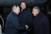 Путин в Челнах: Aurus досмотрен, очередь грузовиков К5