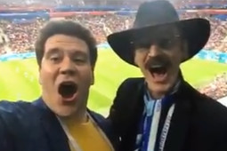 «А-а-а!»: как Мацуев и Боярский болели на матче Россия – Египет