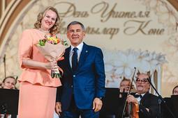 Минниханов и Вовк поздравили педагогов с Днем учителя