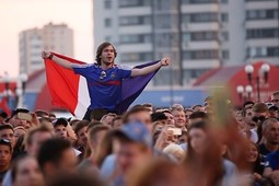 Как в Казани смотрели финал чемпионата мира