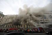 Фоторепортаж «БИЗНЕС Online» с места крупного пожара в центре Москвы