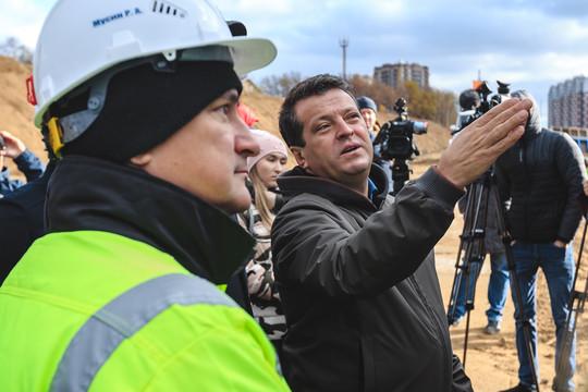 «Наша долгожданная транспортная артерия»: Метшин на строительстве Большого казанского кольца