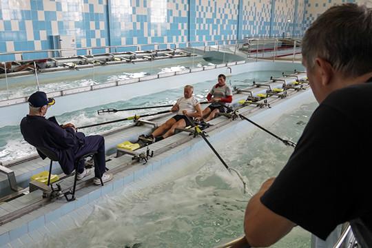 Олимпийский чемпион дал мастер-класс в центре гребных видов спорта
