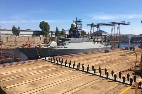 В Зеленодольске спустили на воду ракетный корабль «Ингушетия»