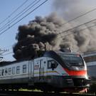 Под Челнами на вагоне-платформе ж/д станции сгорела баня