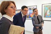 Генконсулы Венгрии и Казахстана посетили выставку в галерее «БИЗОN»