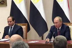 Путин в память о погибших объявил минуту молчания на пресс-конференции с президентом Египта