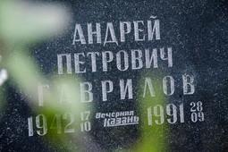 Бывшие коллеги первого редактора газеты «Вечерняя Казань» Андрея Гаврилова почтили его память