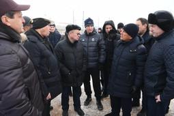 Минниханов осмотрел строительство станции метро «Сахарова»
