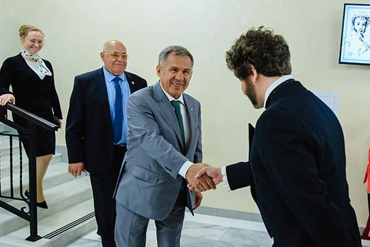 Минниханов посетил культурный центр им. Пушкина в Казани