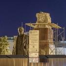 На площади Свободы снесли постамент под памятник Ленину