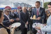 Казанскую фан-зону открыли Рустам Минниханов и «легенды футбола» Карадениз и Рыжиков