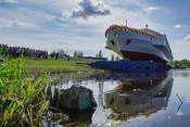 Скоро на Казанке: в Зеленодольске спустили на воду газоход «Чайка»