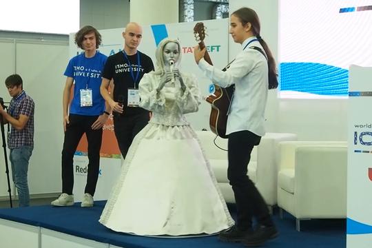 Робот-флейтистка Эльза сыграла на международном саммите IoT в Казани