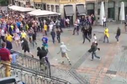 Немецкие и украинские фаната подрались в Лилле на Евро-2016
