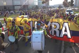 Болельщики из Колумбии прошли маршем до «Казань Арены»