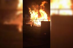 В Казани сгорел дом на Старых Горках