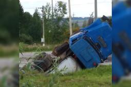 В Елабуге грузовик провалился под землю