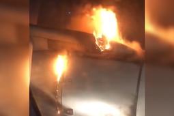 Самолет сел в Уфе с загоревшимся двигателем
