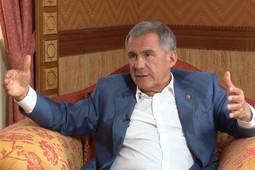 Рустам Минниханов дал интервью перед посланием Госсовету Татарстана