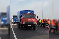 Камазы проехали по обновленному участку трассы М7 в Татарстане