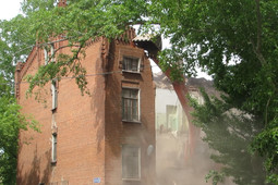 В Казани сносят казармы Октябрьского городка