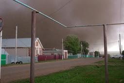 В Сарманово очевидцы наблюдали пыльную бурю