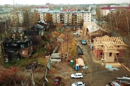 В Зеленодольске восстанавливают первую линию домов квартала «Полукамушки»