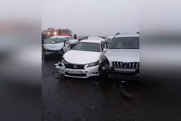 В Адыгее из-за тумана столкнулось более 20 автомобилей