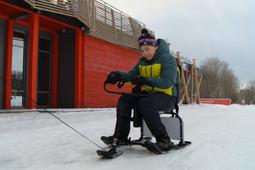 В казанских парках открыли прокат снегокатов для детей с ограниченными возможностями