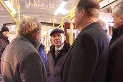 Минниханов оценил в Казани новые трамваи и электробус