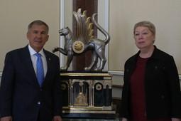 Минниханов встретился с главой минпросвещения РФ Ольгой Васильевой