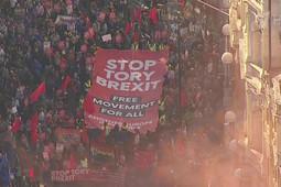 В Лондоне на улицы вышли полмиллиона человек за повторный референдум по Brexit