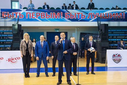 Два бывших президента «Рубина» Дмитрий Самаренкин и Александр Гусев открыли детский футбольный турнир