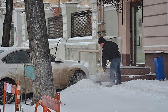 Теплый фронт с Черного моря наградил Казань снегопадом, а из Сибири уже идут холода