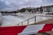 Из-за аномальной оттепели закрылся каток на «Черном озере»