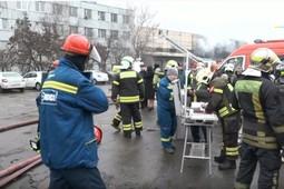 В Москве загорелся склад с газовым оборудованием