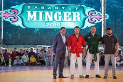 В Татарстане прошел чемпионат мира по борьбе на поясах корэш. Медалистов выявили на фестивале татарской культуры в Мингере