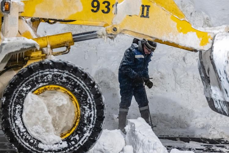 Снегоплавильные пункты Казани сегодня работают с тройной перегрузкой